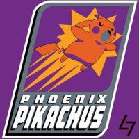"""Pikachu"" de ""Pokémon"" en el logo de Phoenix Suns. Foto:instagram.com/ak47_studios"