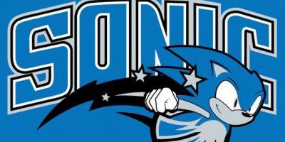 """""""Sonic"""" en el logo de Orlando Magic. Foto:instagram.com/ak47_studios"""