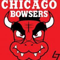 """""""Bowser"""" de """"Super Mario"""" en el logo de Chicago Bulls. Foto:instagram.com/ak47_studios"""
