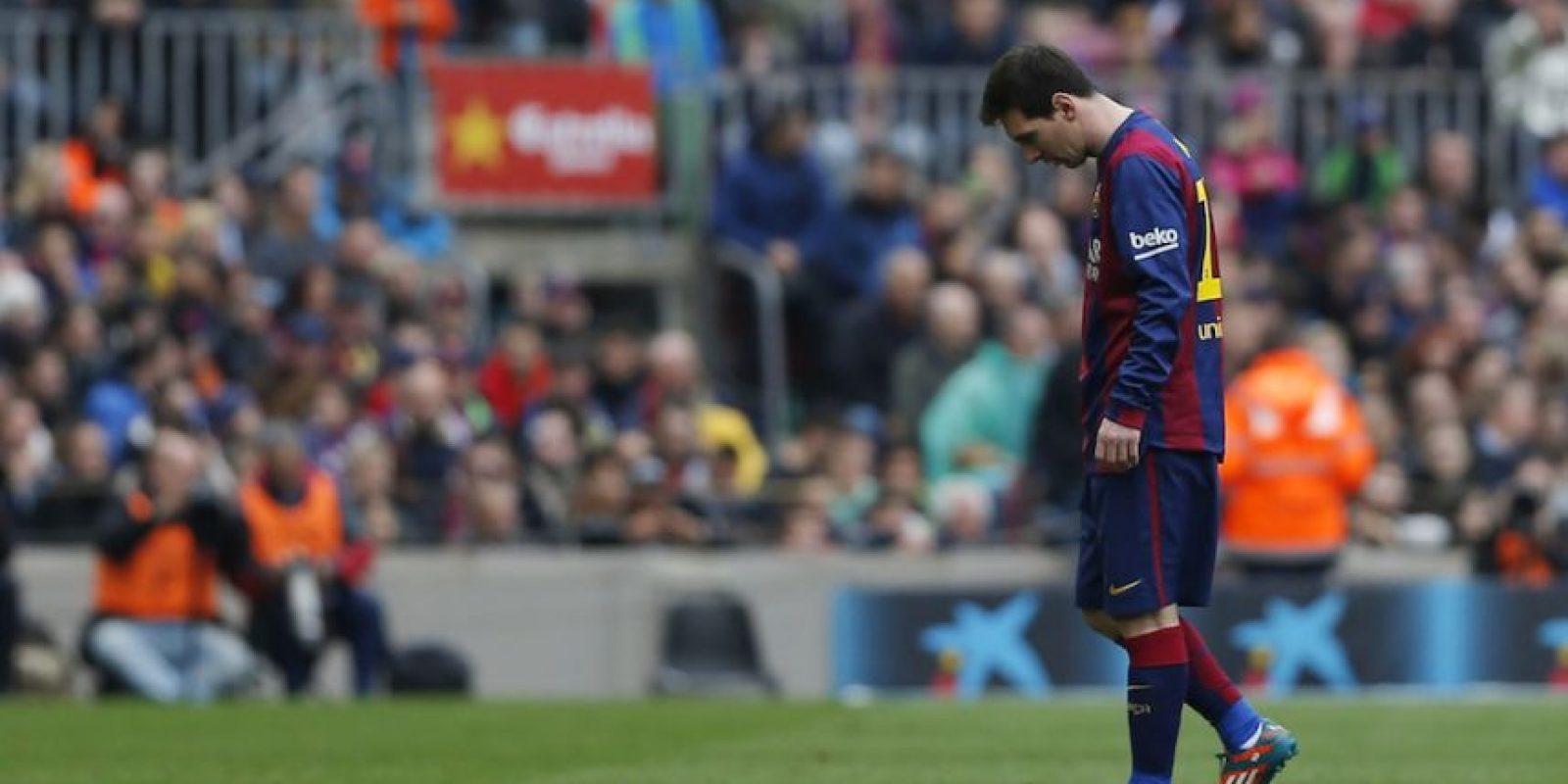 Lionel Messi no tuvo un buen partido en contra del Málaga. Foto:AP