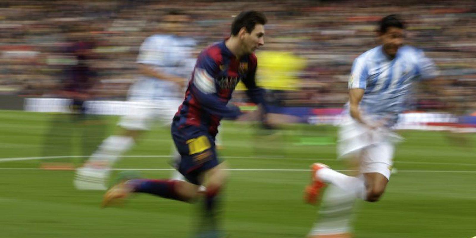 Leo intentó pero no pudo hacer daño. Foto:AP