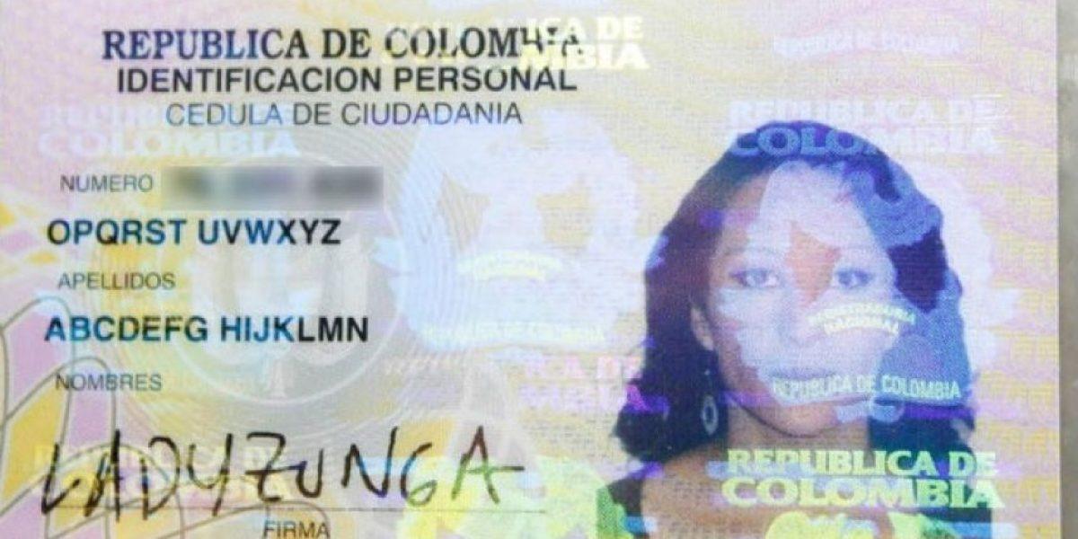 Insólito. Colombiana se cambió el nombre y se puso Abcdefg