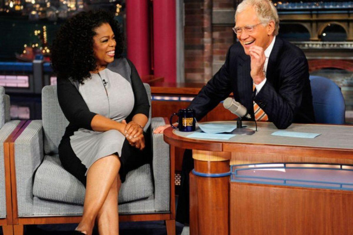 Oprah Winfrey y David Letterman Foto:Agencias