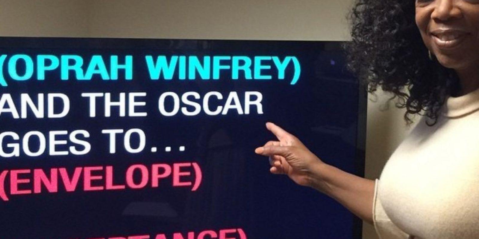 Oprah Winfrey preparándose para presentar los Oscar Foto:Instagram