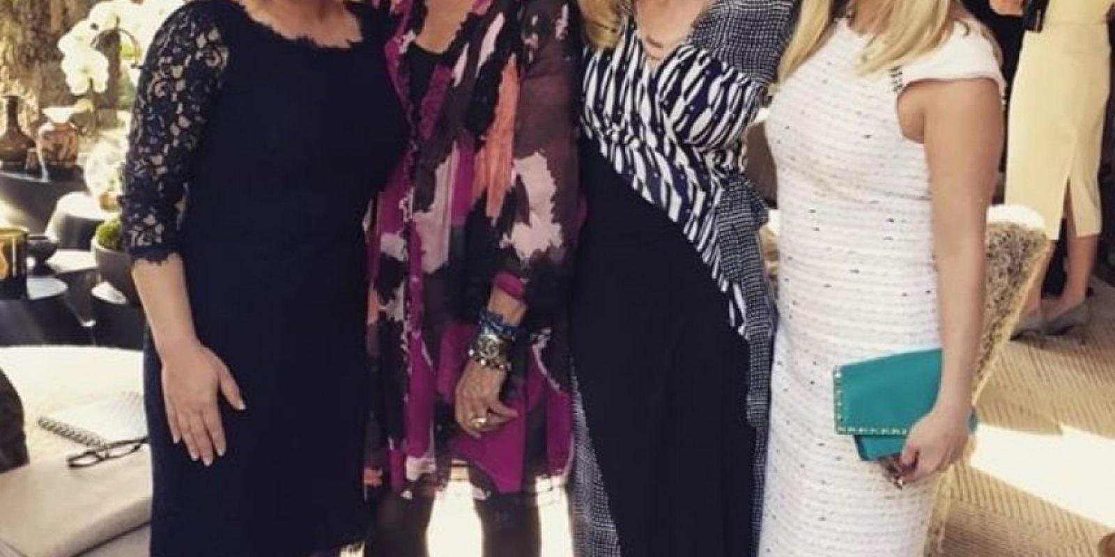 Reese Whiterspoon, Diane Von Furnsternberg, Patricia y Rossana Arquette. Foto:Twitter
