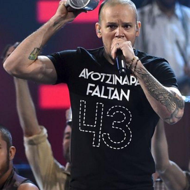 El cantante tenía preparado un discurso por los 43 estudiantes desaparecidos en México Foto:Getty Images