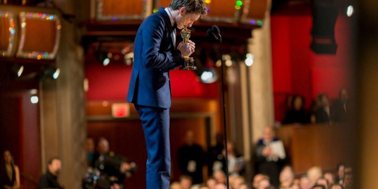 """El actor, Eddie Redmayne, ganó un Oscar en la categoría de mejor actor con la película """"La Teoría del todo"""" Foto:Getty Images"""