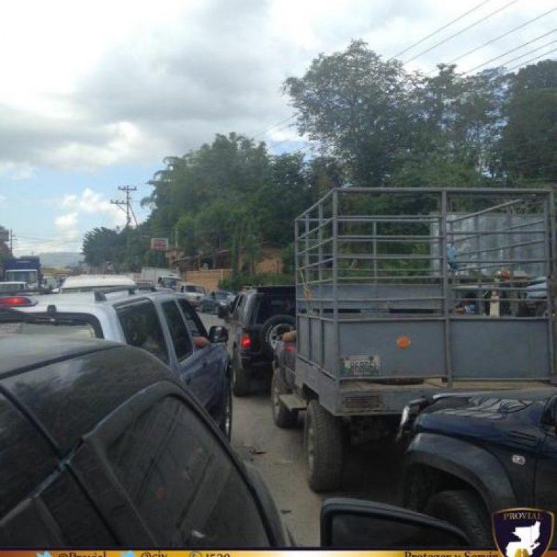 Bloqueo en El Progreso. Foto:Provial