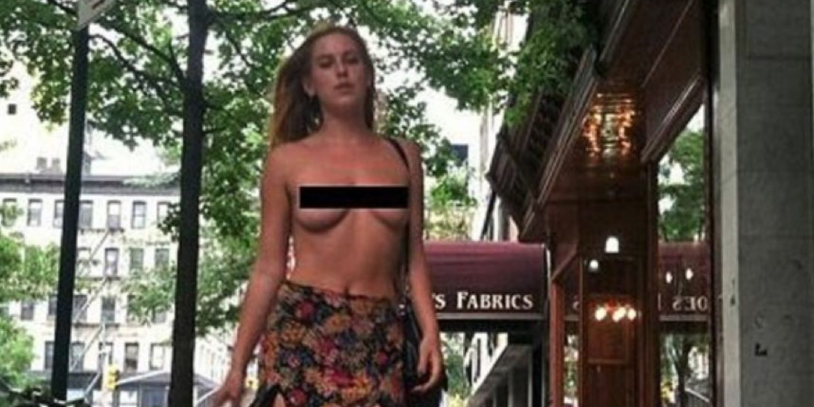 En junio de 2014, Scout Willis causó gran polémica cuando salió a la calle en topless, para manifestarse a favor de la equidad de género. Foto:Twitter/Scout_Willis