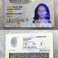 Este es el documento de identificación de esta mujer colombiana Foto:Cortesía