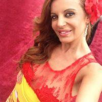 El vestido de Sonia Monroy, presentadora española, es el mayor ridículo de moda que se ha visto en los Oscar. Foto:Twitter
