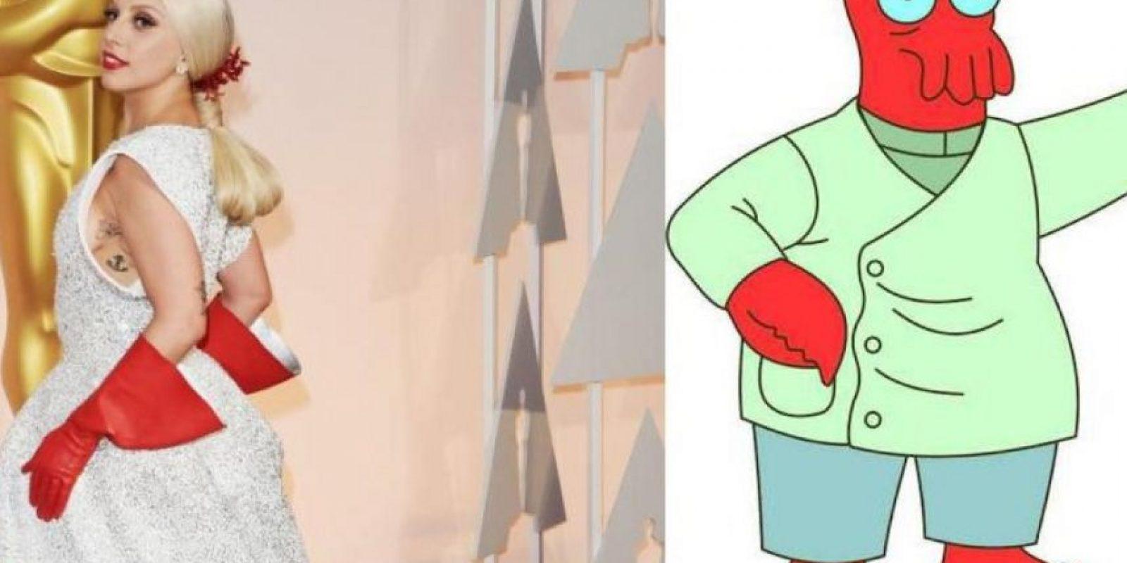 Lady Gaga, quien ha sido objeto de una gran cantidad de memes. Foto:Twitter