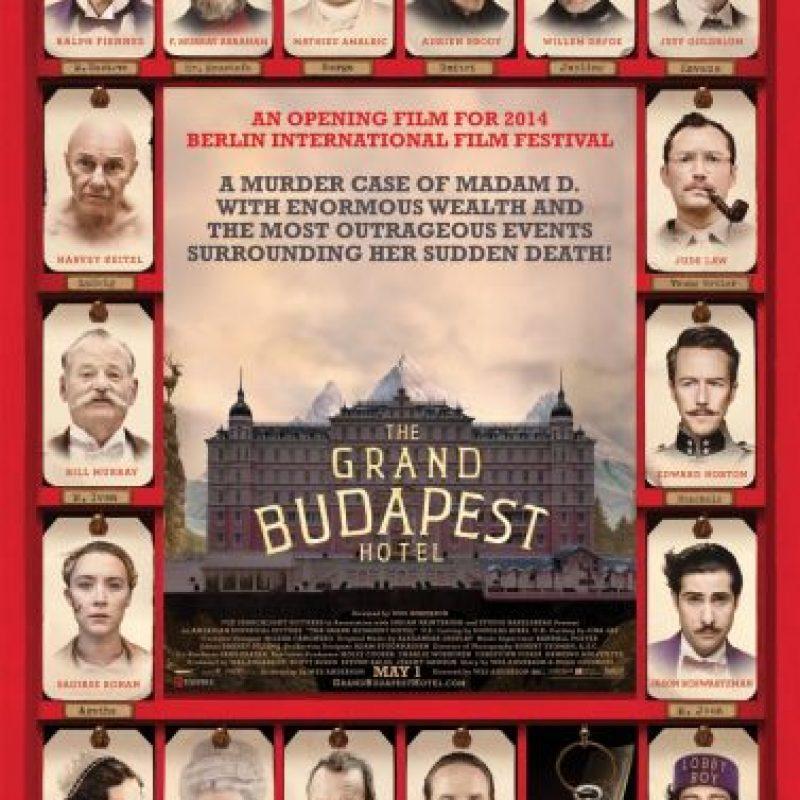 """The Grand Budapest Hotel"" se quedó con la estatuilla por Mejor soundtrack original. El músico francés Alexandre Desplat compuso la música."