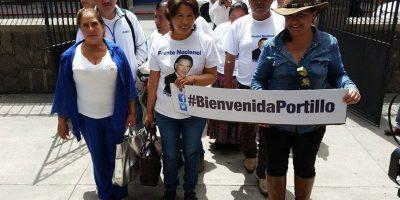 Janeth Pérez (centro) ex diputada. Foto:Kenneth Monzón