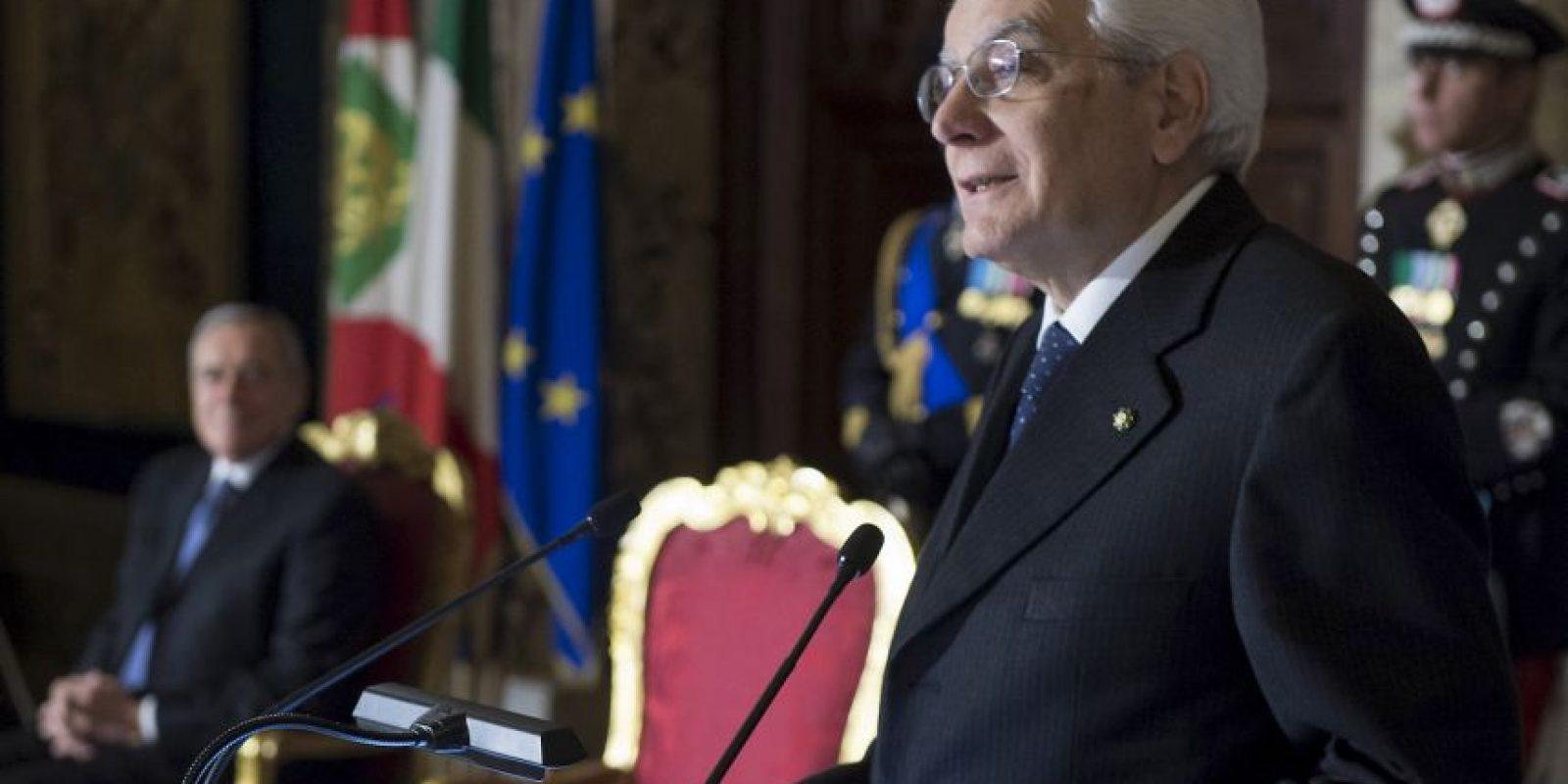 Sergio Mattarella nació en Palermo, Italia. Foto:Getty Images