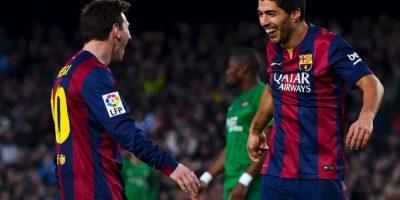 Los directivos de la compañía telefónica y del Barça destacaron el tridente ofensivo formado por Messi, Luis Suárez Foto:Getty
