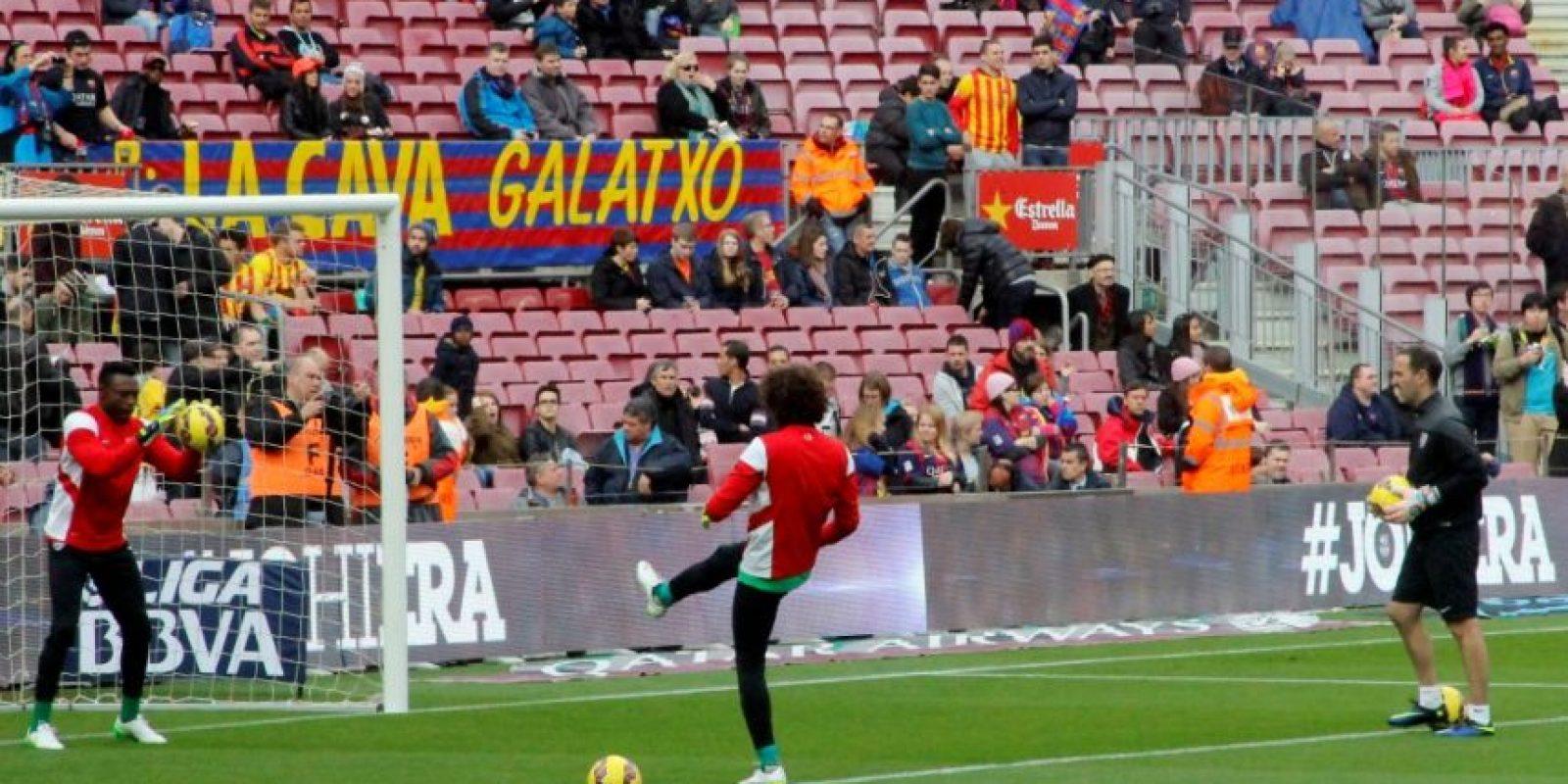 Así vivió Ochoa la victoria del Málaga sobre los culés Foto:Ramón Mompió
