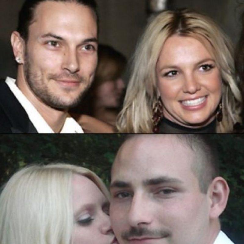 Kevin y Britney… Foto:Twitter