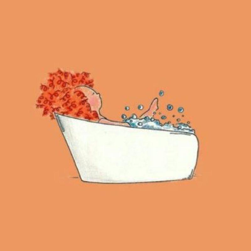 5. Si suelen meditar, se aconseja tomar una ducha antes de hacerlo para que tu estado mental esté más tranquilo. Foto:Tumblr.com/tagged-bañarse
