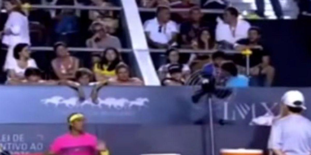 VIDEO: Así se transforma Rafa Nadal cuando pierde la cabeza
