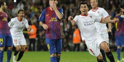 6. En la Liga contra el Sevilla, 22-10-2011. Foto:Publinews