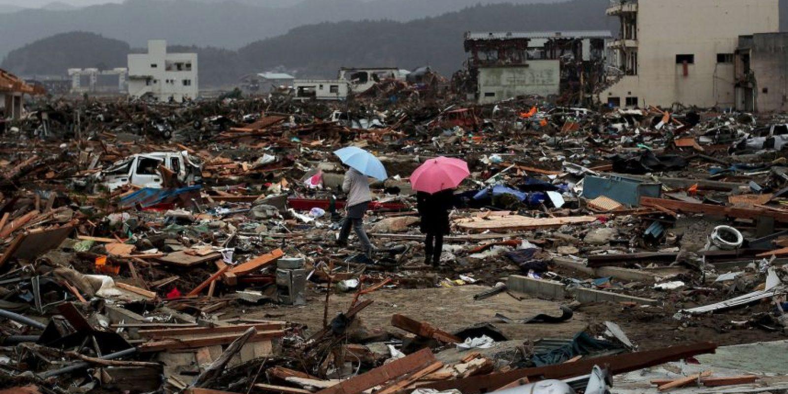 7. Luego del día 12 del terremoto y el tsunami hubo una gran explosión en la planta. Foto:Getty