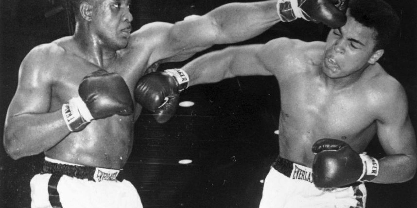 Imágenes del combate entre Ali (Cassius Clay a la sazón) ante Sonny Liston, el 25 de febrero de 1964 Foto:Getty Images