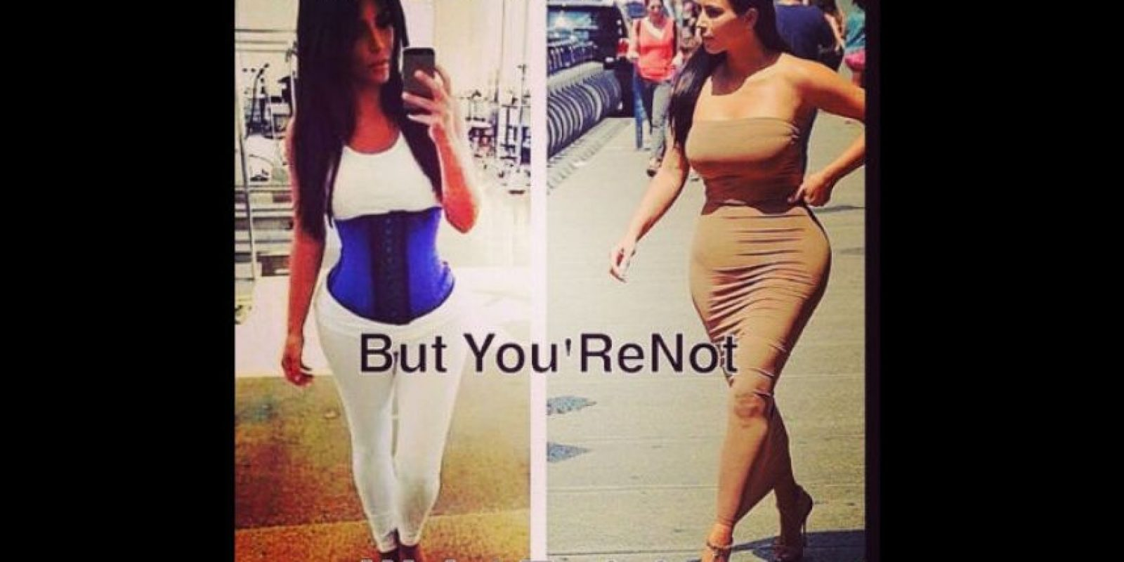 Al parecer esta prenda también ayudó a Kim Kardashian. Foto:Instagram/premadonna87