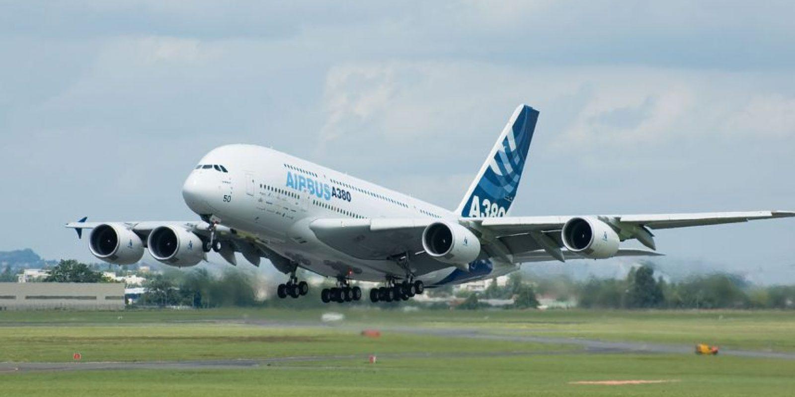 Airbus A380-800. Envergadura: 79,8 metros Foto:Wikimedia