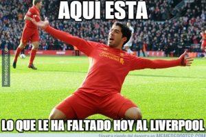 """Luis Suárez es extrañado por los """"Reds"""" Foto:Memedeportes"""