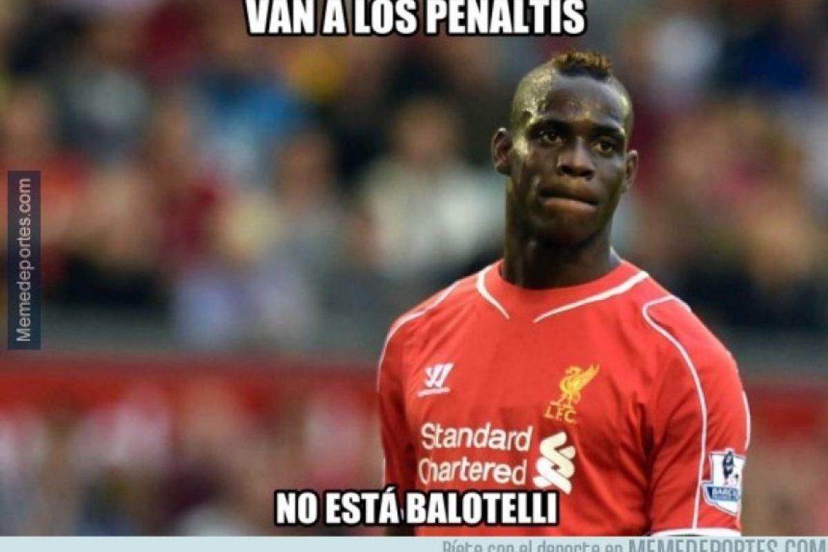 Balotelli salió de cambio en el minuto 82 Foto:Memedeportes