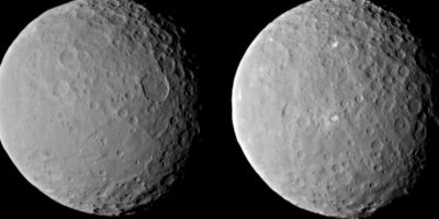 Ceres, que es el cuerpo más grande que existe entre Marte y Júpiter en el cinturón de asteroides principal, tiene un diámetro de alrededor de 950 kilómetros Foto:Nasa.gov
