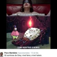 Hace poco, detuvieron a otra fan en Sinaloa, México. Ella se estaba masturbado en un cine al ver la película. Foto:Twitter