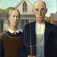 """American gothic"" de Grant Wood"