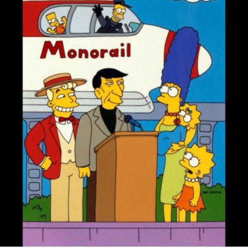 """""""Adiós Leonard. Siempre te extrañaremos"""", escribió la cuenta oficial de la serie Los Simpson Foto:Twitter"""