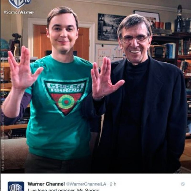 """""""Larga vida y prosperidad, Mr. Spock"""", compartió la cuenta de Warner Channel Foto:Twitter"""
