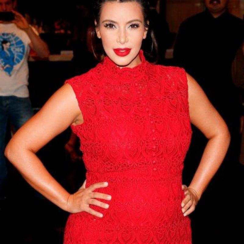 Y en 2013, Kim repitió su vestido con su figura de embarazada Foto:Getty Images