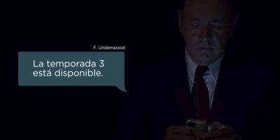 "Tercera temporada de ""House of Cards"" ya está disponible en Netflix"