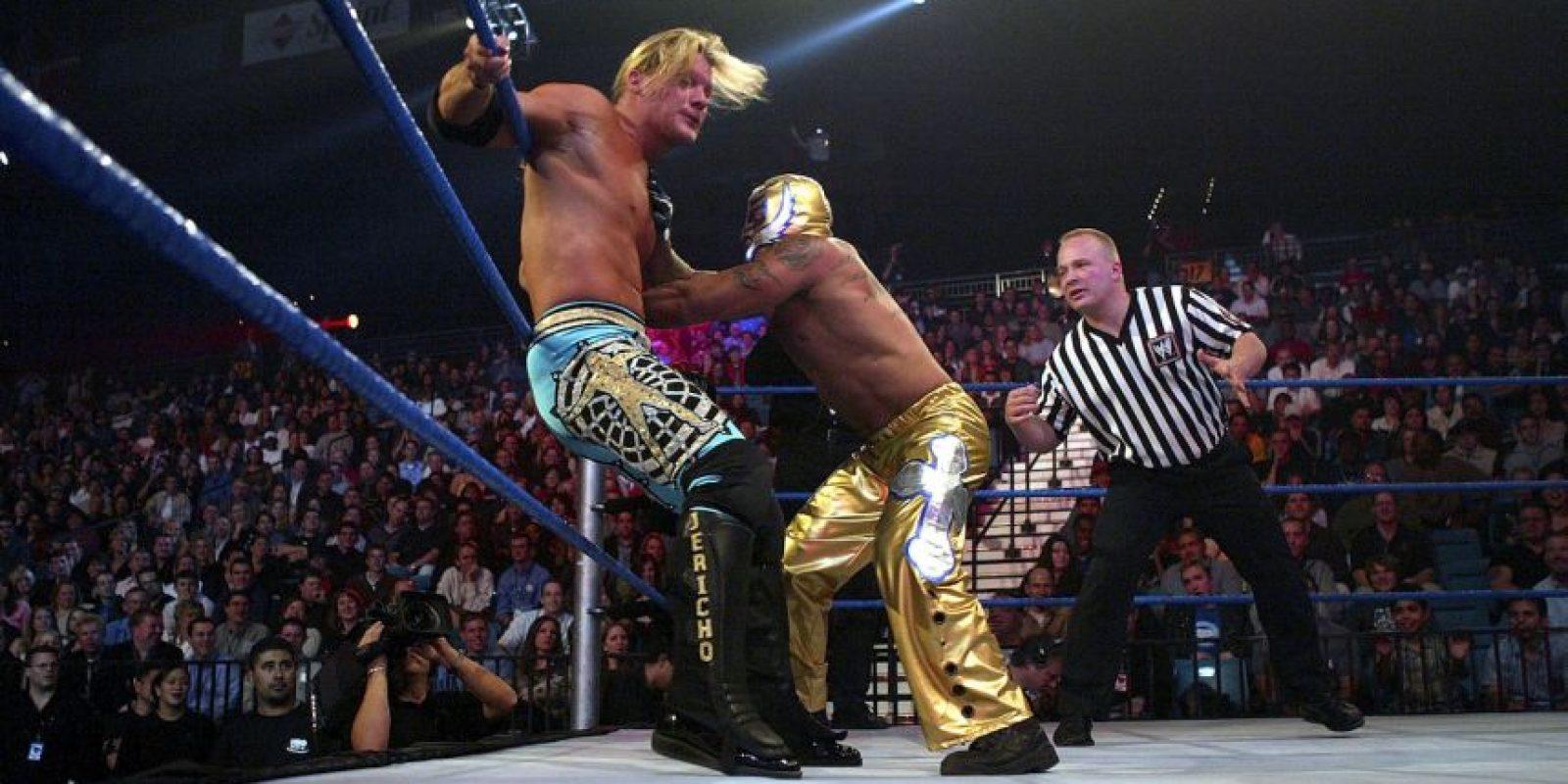 También dos veces alzó el campeonato mundial de la WWE Foto:Getty Images