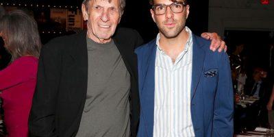 """Junto a Zachary Quinto, quien interpreta a """"Mr. Spock"""" en el remake de """"Star Trek"""" en el cine Foto:Getty Images"""