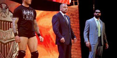 """Por un momento volvió a integrar el grupo """"Evolution"""", junto a Randy Orton y Triple H Foto:WWE"""