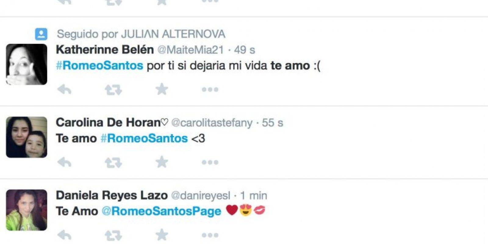 Romeo Santos tiene quien lo quiera: sus miles de fans apasionadas que postean fotos admirándole. Le esperan afuera y le agradecen por existir. Foto:Twitter