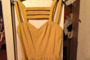 """En el caso particular de este vestido, tuvo que ser """"subastado"""" luego de que su dueña apareciera medio desnuda accidentalmente Foto:eBay"""