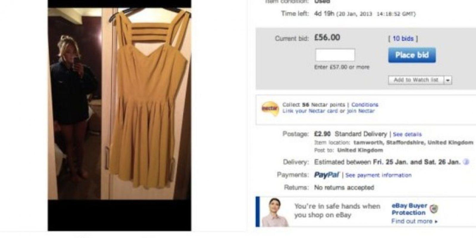 El vestido costó más de mil dólares Foto:Twitter
