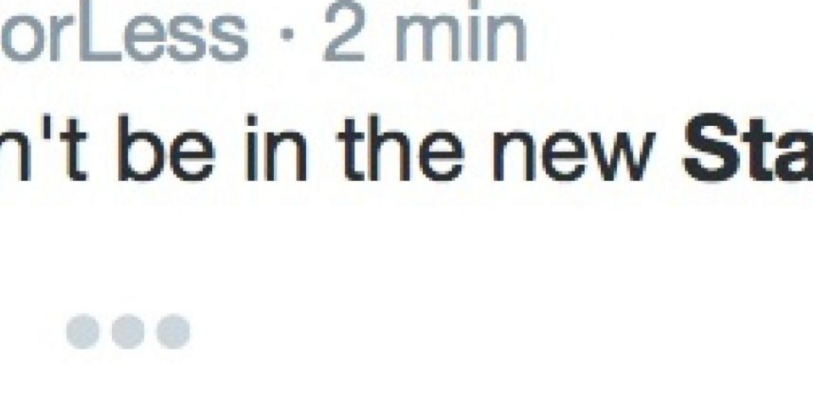 Pero los demás tuiteros si han confundido a Nimoy con los protagonistas de Star Wars Foto:Twitter