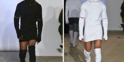 En la pasada Semana de la Moda de Nueva York hubo varias propuestas de moda masculina que mostraron vestidos para hombre en pasarela. Foto:Twitter