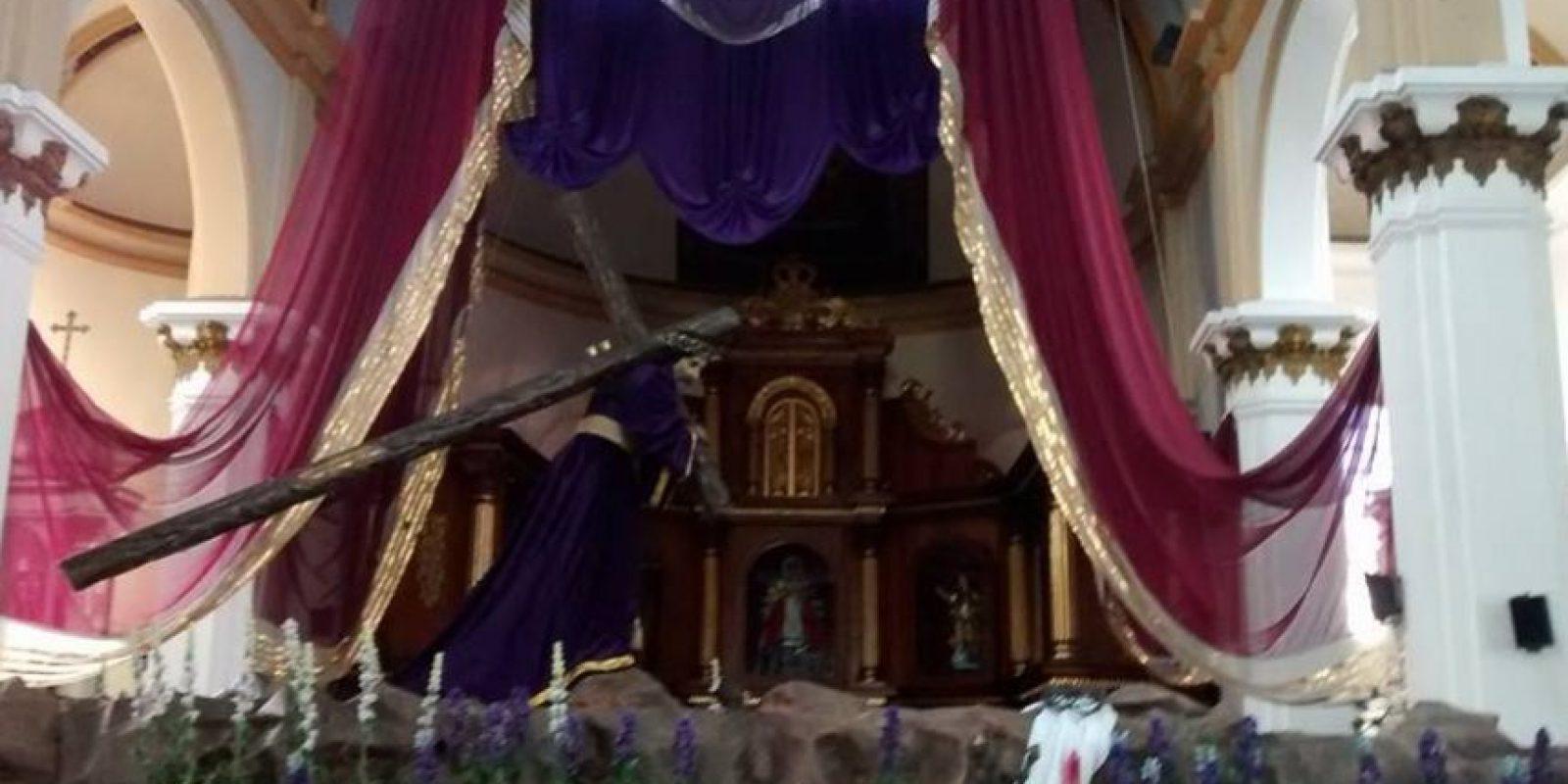 Consagrada imagen de Jesús Nazareno de la Justicia Foto:Parroquia Nuestra Señora de los Remedios, El Calvario
