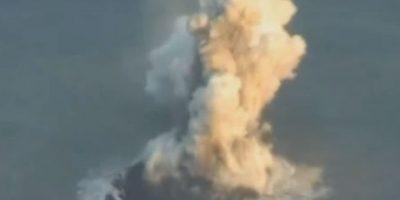 VIDEO: La isla creada por un volcán japonés se fusiona con otra y sigue creciendo