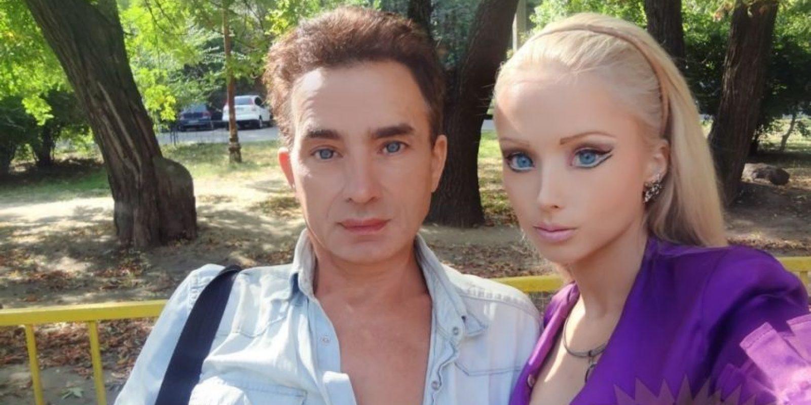 Valeria y su papá Foto:Sitio Web