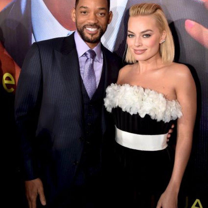 """Smith junto a l coporotagonista de """"Focus"""", Margot Robbie Foto:Getty Images"""